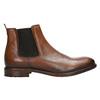 Hnědé kožené Chelsea Boots bata, hnědá, 896-3673 - 15