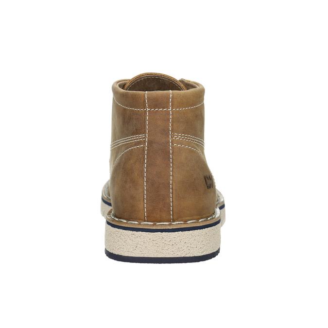 Hnědá pánská kožená kotníčková obuv weinbrenner, hnědá, 846-4658 - 16