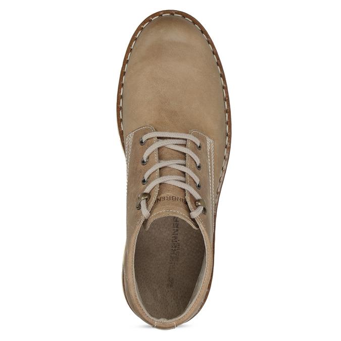 Hnědá pánská kožená kotníčková obuv weinbrenner, hnědá, 846-4658 - 17