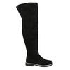 Kozačky nad kolena z broušené kůže bata, černá, 593-6605 - 15