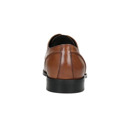 Hnědé kožené Derby polobotky bata, hnědá, 826-3646 - 16