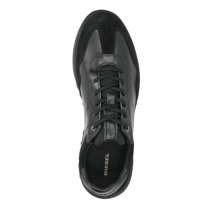 Pánské kožené tenisky diesel, černá, 804-6626 - 15