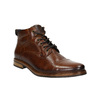 Kožená kotníčková obuv hnědá bata, hnědá, 896-3674 - 13
