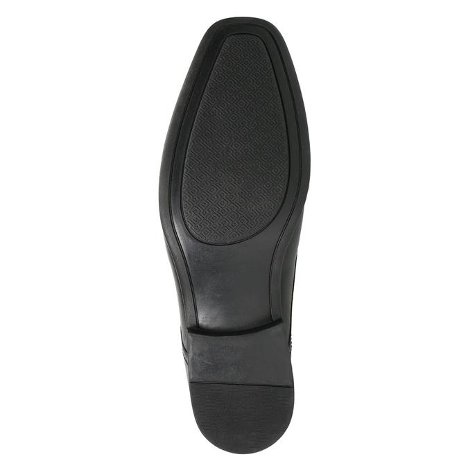 Černé kožené polobotky bata, černá, 824-6600 - 19