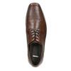 Hnědé kožené polobotky bata, hnědá, 824-4600 - 26