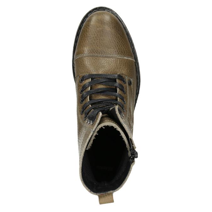 Kožená dámská kotníčková obuv bata, hnědá, 596-7681 - 15