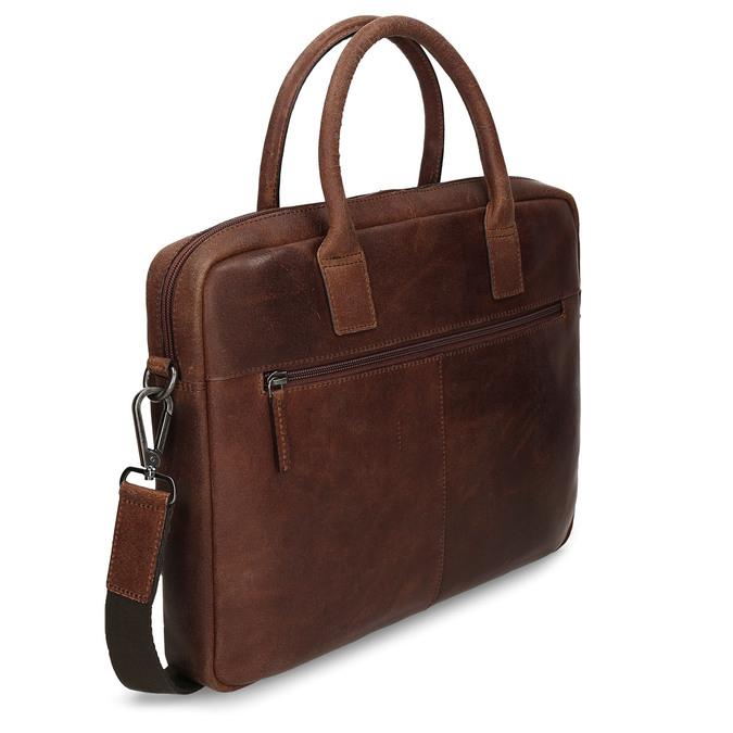 Kožená pánská taška s prošíváním bata, hnědá, 964-4139 - 13