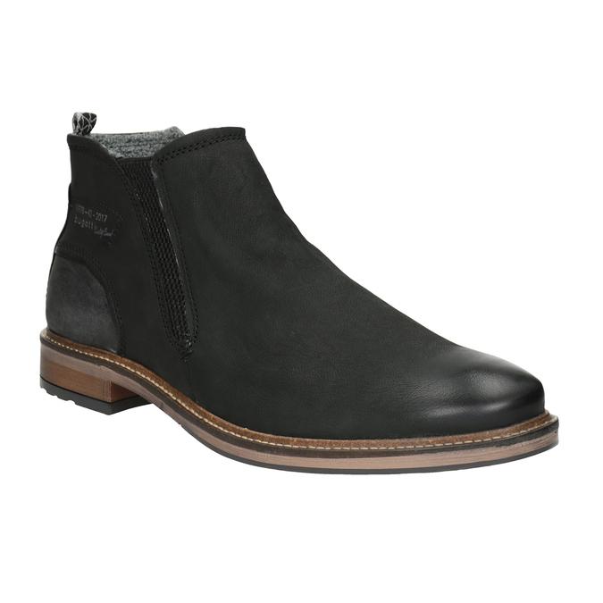 Kožená kotníčková obuv pánská bugatti, černá, 816-6044 - 13
