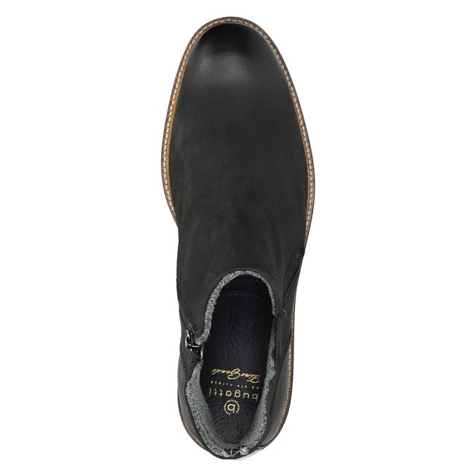 Kožená kotníčková obuv pánská bugatti, černá, 816-6044 - 15