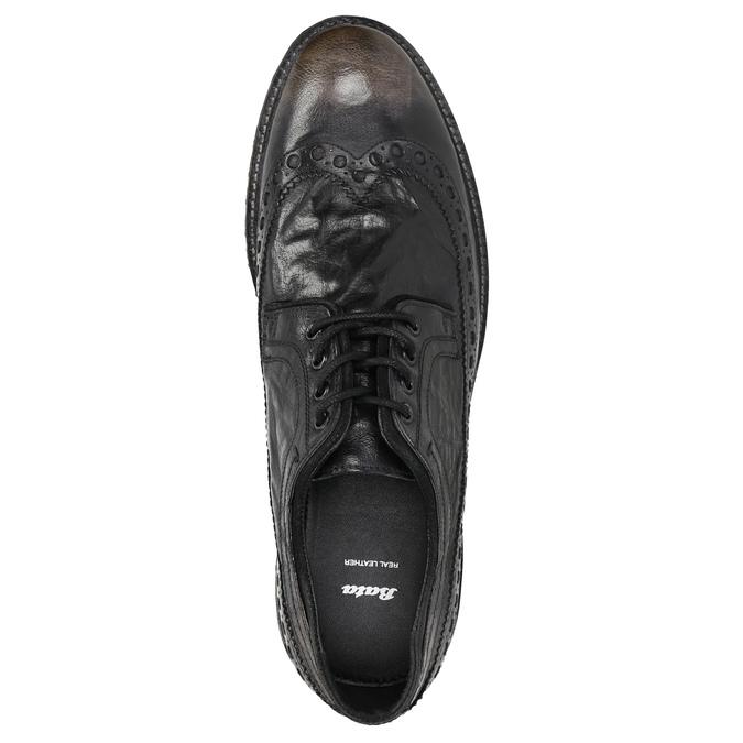 Ležérní pánské polobotky bata, hnědá, 826-4916 - 26