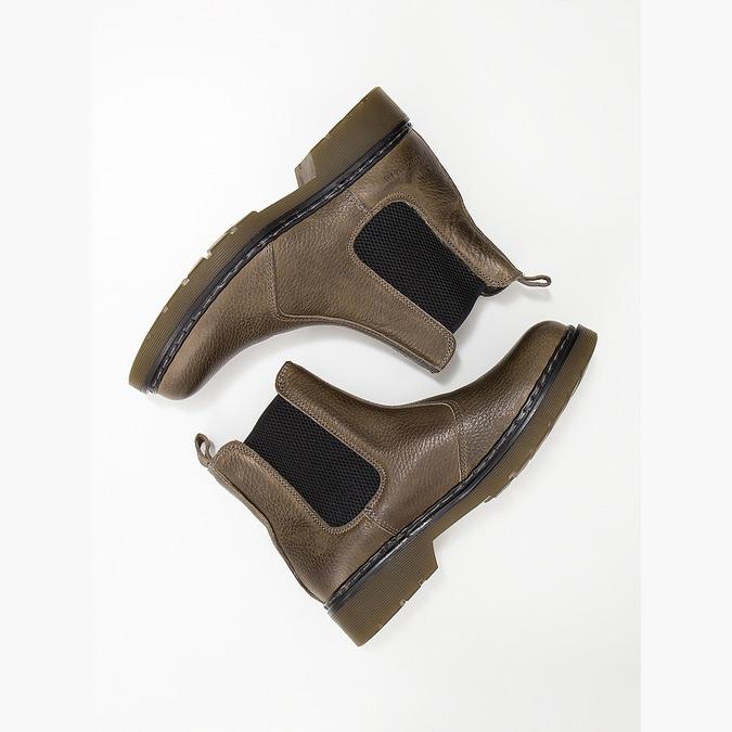 Dámská kožená Chelsea obuv bata, hnědá, 596-7680 - 18