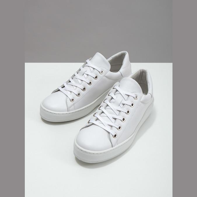 Bílé kožené tenisky bata, bílá, 526-1641 - 18