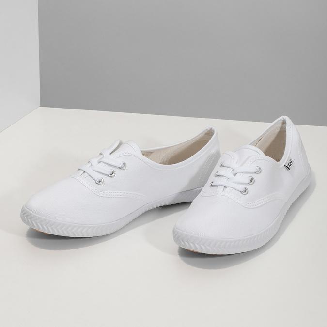 Dámské bílé tenisky tomy-takkies, bílá, 589-1180 - 16