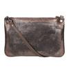 Dámské kožené metalické psaníčko bata, hnědá, 964-4141 - 26