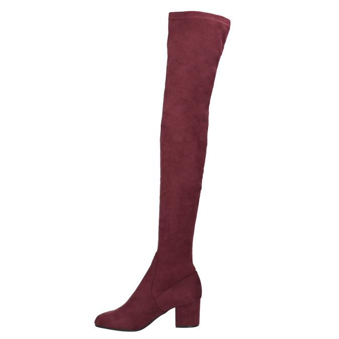 Dámské kozačky nad kolena vínové steve-madden, červená, 719-5024 - 15