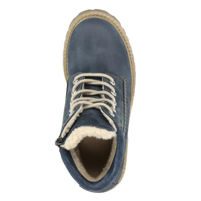 Dětská zimní obuv s kožíškem weinbrenner-junior, modrá, 416-9600 - 26