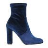Sametové modré kozačky steve-madden, modrá, 719-9017 - 26