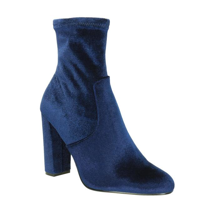 Sametové modré kozačky steve-madden, modrá, 719-9017 - 13