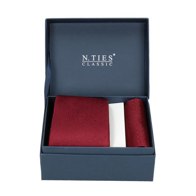 Červená sada kravaty a kapesníčku n-ties, červená, 999-5290 - 13