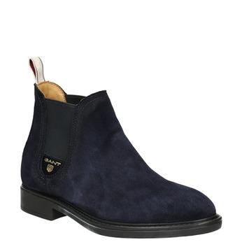 Dámská kožená Chelsea obuv gant, modrá, 513-9086 - 13