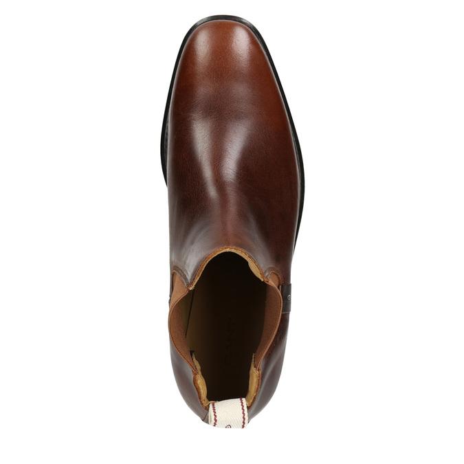 Hnědá kožená Chelsea obuv gant, hnědá, 514-4077 - 26