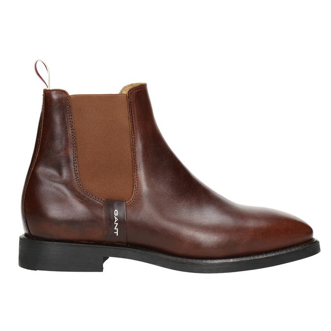 Hnědá kožená Chelsea obuv gant, hnědá, 514-4077 - 15