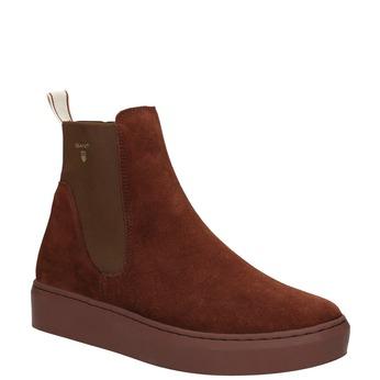 Kožená dámská kotníčková obuv gant, hnědá, 513-4062 - 13