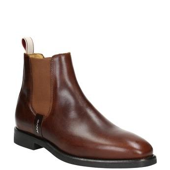 Hnědá kožená Chelsea obuv gant, hnědá, 514-4077 - 13