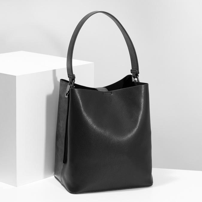 Černá kabelka s odnímatelným popruhem bata, černá, 961-2173 - 17