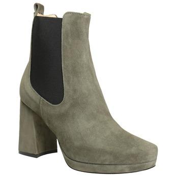 Kotníčková dámská obuv na podpatku bata, zelená, 793-7704 - 13