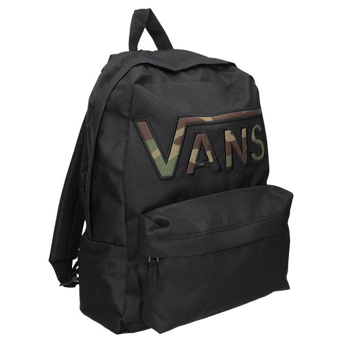 Černý batoh s logem vans, černá, 969-6078 - 13