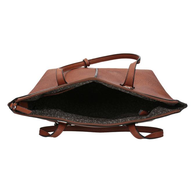 Hnědá dámská kabelka s prošitím gabor-bags, hnědá, 961-3059 - 15