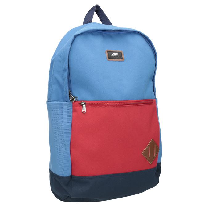 Modrý batoh s červenou kapsou vans, modrá, 969-9095 - 13