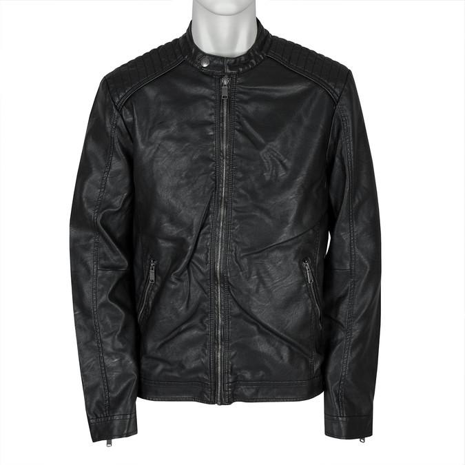 Pánská bunda s prošitím bata, černá, 971-6103 - 13