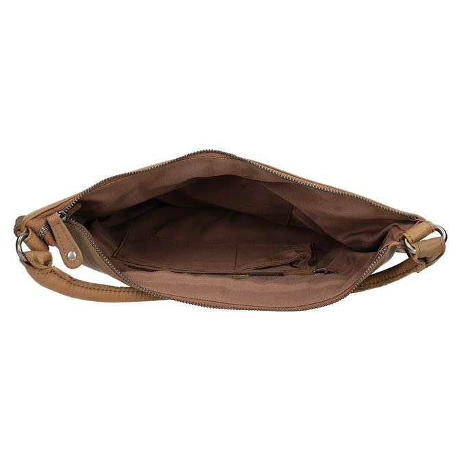 Kožená kabelka s propletením fredsbruder, hnědá, 963-3005 - 15