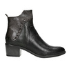 Kotníčková kožená obuv s kovovými cvoky bata, černá, 696-6652 - 26