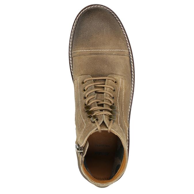 Kotníčková kožená obuv bata, hnědá, 893-3653 - 26