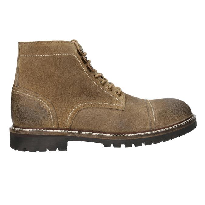 Kotníčková kožená obuv bata, hnědá, 893-3653 - 15
