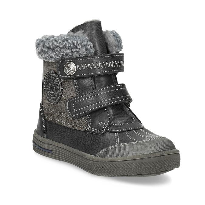 Dětská zimní obuv se zateplením bubblegummers, šedá, 191-4619 - 13