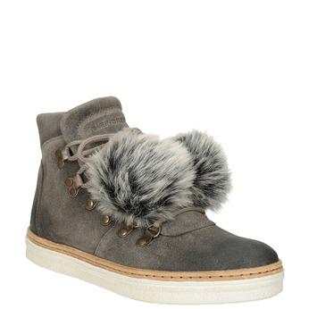 Dámská zimní obuv se šněrováním weinbrenner, šedá, 596-2674 - 13