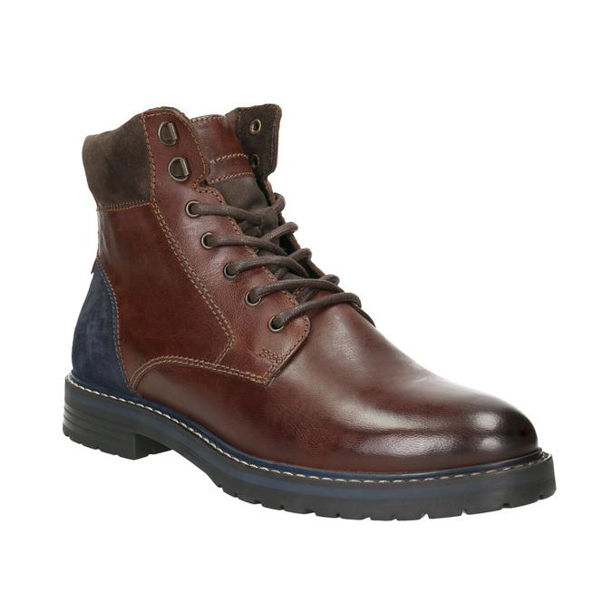 Kotníčková pánská obuv bata, hnědá, 896-4689 - 13