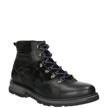 Pánská zimní obuv s výraznou podešví bata, černá, 896-6668 - 13