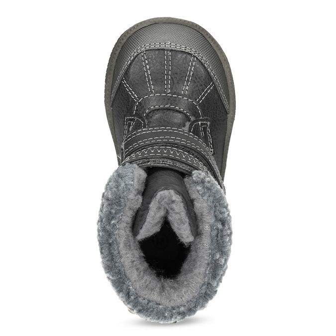 Dětská zimní obuv se zateplením bubblegummers, šedá, 191-4619 - 17