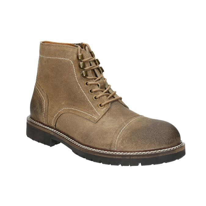 Kotníčková kožená obuv bata, hnědá, 893-3653 - 13