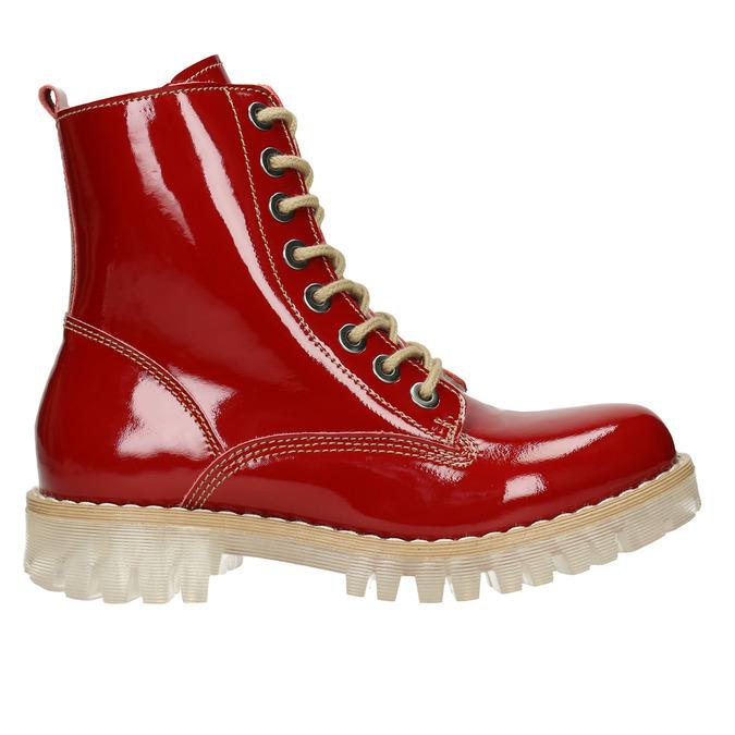 Dámská lakovaná obuv s masivní podešví weinbrenner, červená, 598-5604 - 26