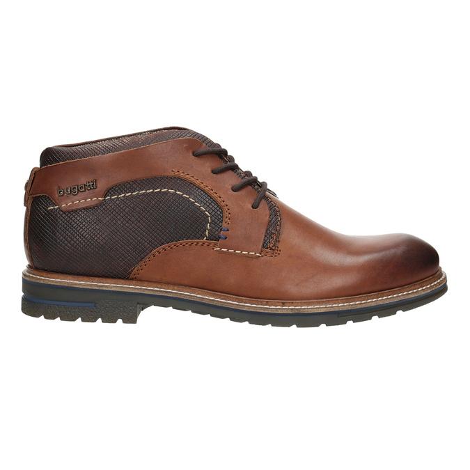 Kožená kotníčková obuv bugatti, hnědá, 824-6010 - 26