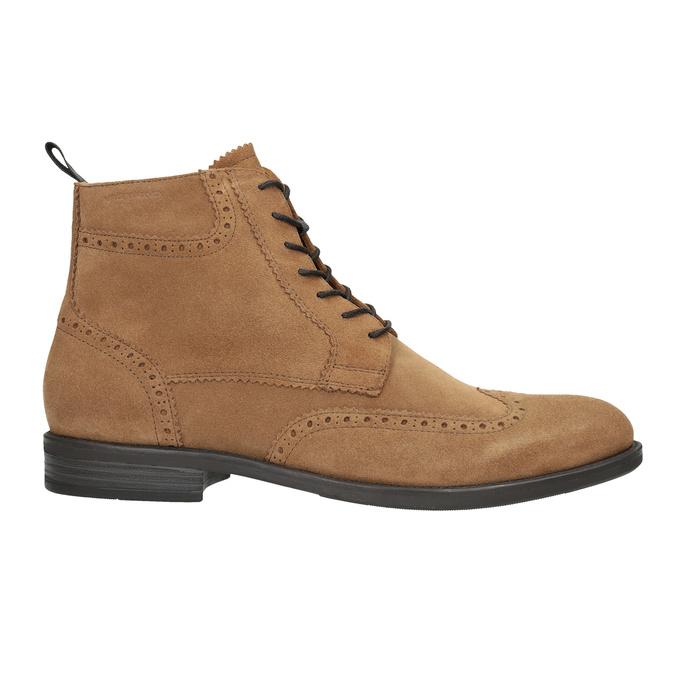 Kožená pánská kotníčková obuv vagabond, hnědá, 823-3016 - 26