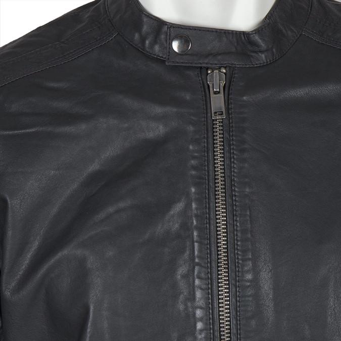 Kožená pánská bunda bata, černá, 974-6171 - 16