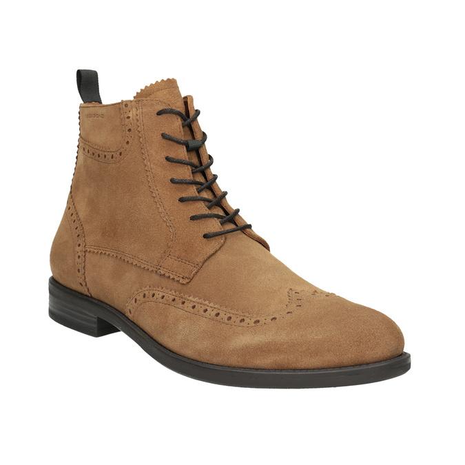 Kožená pánská kotníčková obuv vagabond, hnědá, 823-3016 - 13