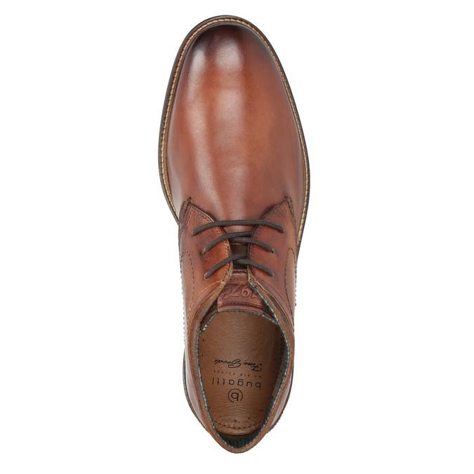 Kožená pánská kotníčková obuv bugatti, hnědá, 826-3005 - 15